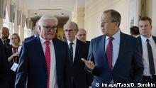 Russland Jekaterinburg Frank-Walter Steinmeier und Sergei Lawrow