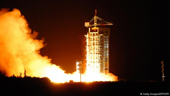 China's quantum satellite - nicknamed Micius after a 5th century BC Chinese scientist - blasts off from the Jiuquan satellite launch centre in China's northwest Gansu province