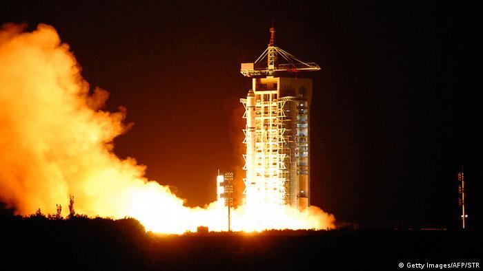 China Start des ersten Quantenkommunikationssatelliten Micius