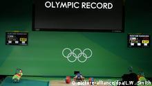 Brasilien Olympische Spiele Rio 2016 - Gewichtheben Kianoush Rostami, Iran