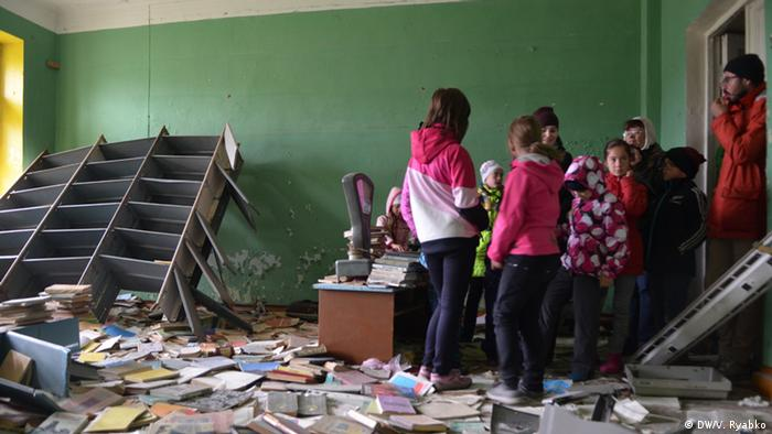 В заброшенном здании школы