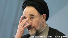 Deutschland Mohammad Chatami Pressekonferenz in Berlin