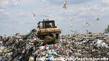 Ukraine Mülldeponie aus Pidhirtsi in der Region Kiew