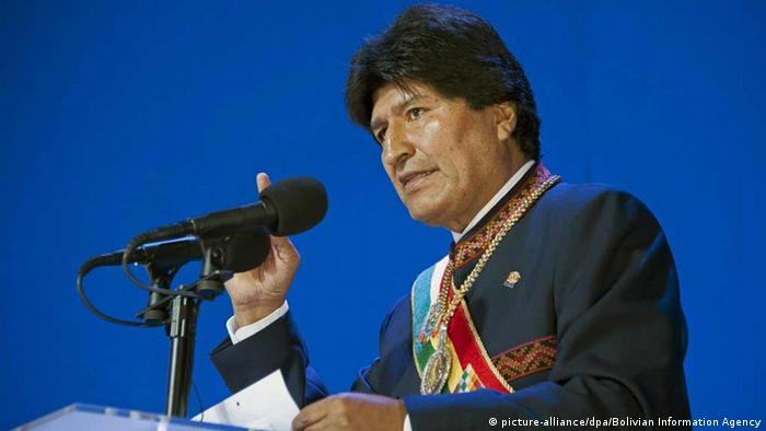 Bolivien Präsident Evo Morales (picture-alliance/dpa/Bolivian Information Agency)