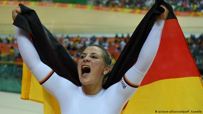 Kristina Vogel winning a gold medal at Rio 2016, Copyright: picture-alliance/dpa/F. Kaestle