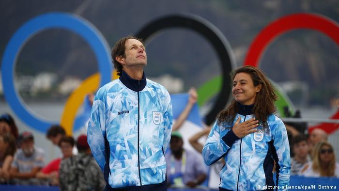 Rio Momente 17 08 Segeln Santiago Lange und Cecilia Carranza Saroli