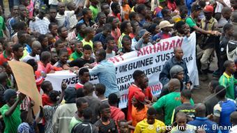 Une manifestation de l'opposition à Conakry