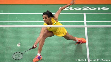 Brasilien Olympische Spiele in Rio - Badminton Pusarla V. Sindhu (Getty Images/AFP/J. Watson)