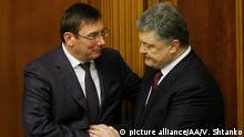 Ukraine Jurij Luzenko und Petro Poroschenko in Kiew