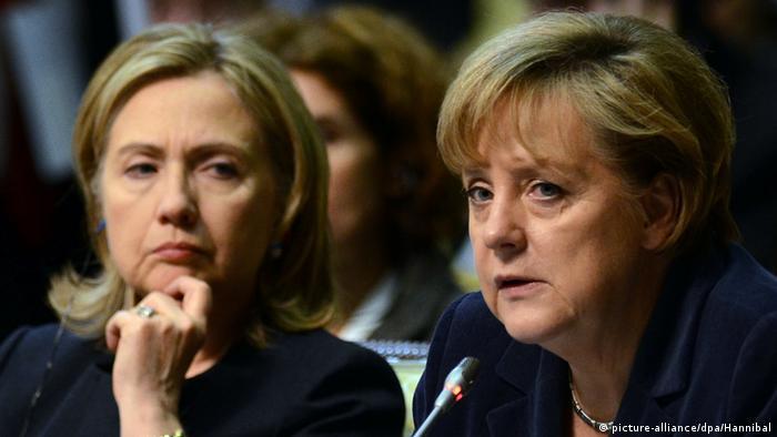 Хиллари Клинтон и Ангела Меркель (фото из архива)