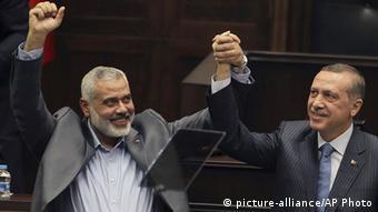Türkei Ismail Haniyeh und Recep Tayyip Erdogan in Ankara
