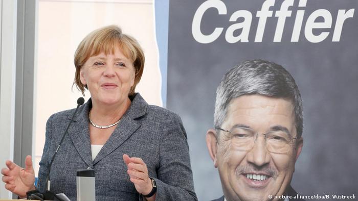 Deutschland Neustrelitz Angela Merkel auf CDU-Wahlkampfveranstaltung