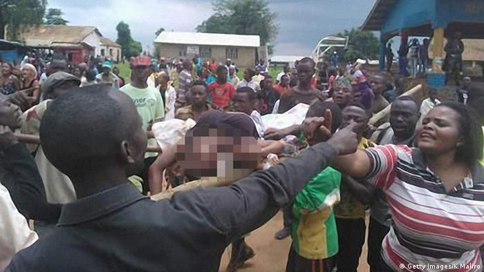 Kongo Beni Menschenmenge nach Massaker