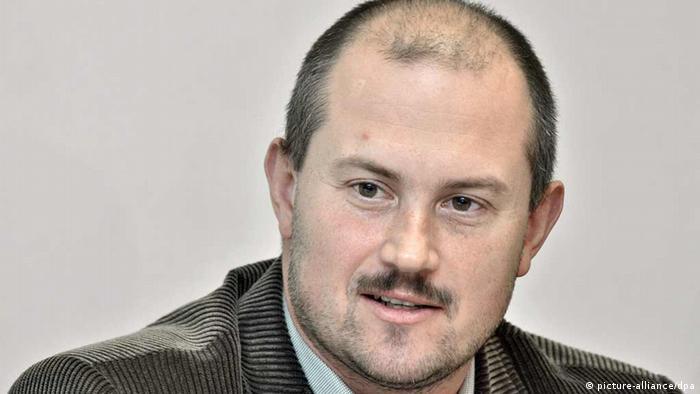 Slovakei Parteichef der Volkspartei Unsere Slowakei Marian Kotleba (picture-alliance/dpa)