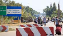 Krim Kalantschak Grenze zu Ukraine