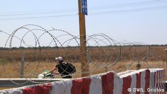 Krim Kalantschak Grenze zu Ukraine (DW/L. Grishko)