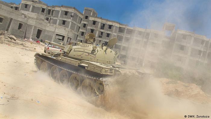Российский танк в Ливии (фото из архива)