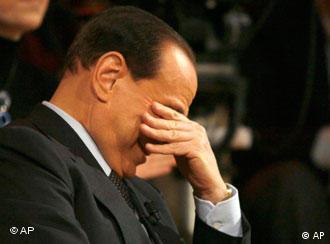 Berlusconi knows that the fall from power may hit him hard