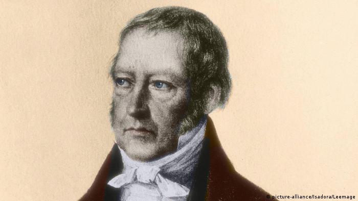 Portrait of German philosopher Georg Wilhelm Friedrich Hegel