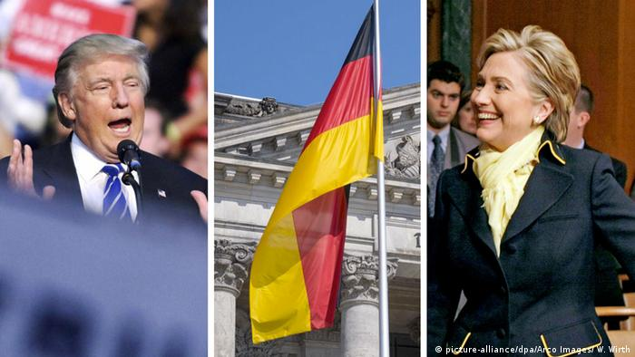 Bildkombo Trump Clinton Thema Deutschland (picture-alliance/dpa/Arco Images/ W. Wirth)