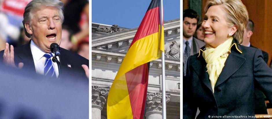 Visões de mundo inconciliáveis: Trump e Hillary evocam a Alemanha em suas campanhas para a Casa Branca