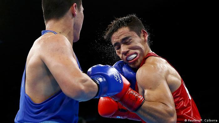 Brasilien Olympische Spiele Rio 2016 - Boxen 75 kg - Misael Rodriguez & Bektemir Melikuziev