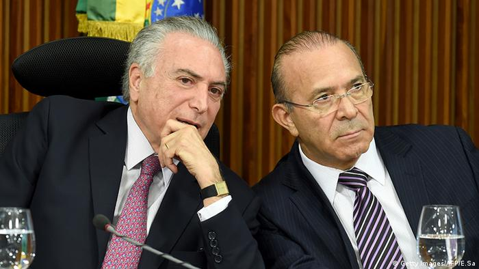 Michel Temer Eliseu Padilha Brasilien (Getty Images/AFP/E.Sa)