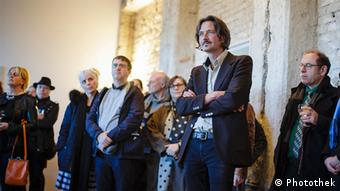 Artist Andréas Lang is pictured at a vernissage at the Federal Foreign Office, Copyright: Photothek