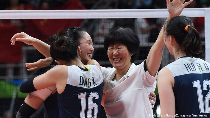 Rio 2016 Olympia Volleyball China's Zhu Ting China
