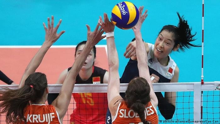 Rio 2016 Olympia Volleyball China's Zhu Ting China v Niederlande