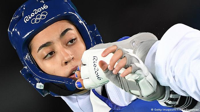 Alizadeh Zenoorin Iran Taekwondo Rio 2016 Olympia (Getty Images/AFP/K.Kudryavtsev)