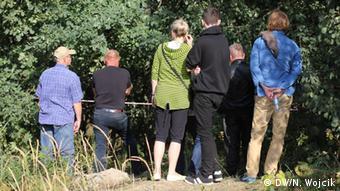 Curious visitors in Walbrzych Copyright: DW/Nadine Wojcik