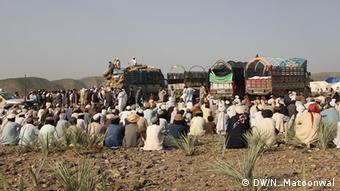 Flüchtlinge im Flüchtlingslager Chost in (Foto: DW/N. Matoonwal)