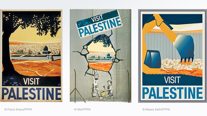 Compilation of Visit Palestine vintage travel posters