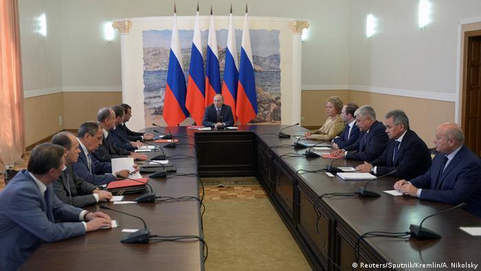 Russland Präsident Putin in Krim