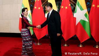 Treffen von Xi Jinping und Aung San Suu Kyi