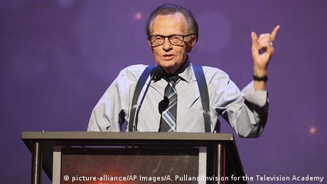 Larry King presents an Emmy Award