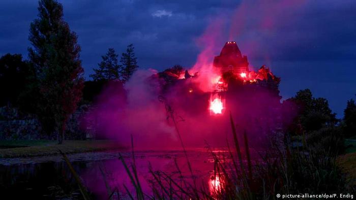 Извержение искусственного вулкана в Вёрлице в 2016 году