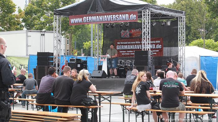 Visitors attend a right-wing concert in Thuringia