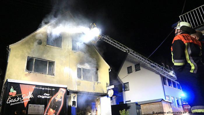 Deutschland Gößweinstein Brand in Asylunterkunft