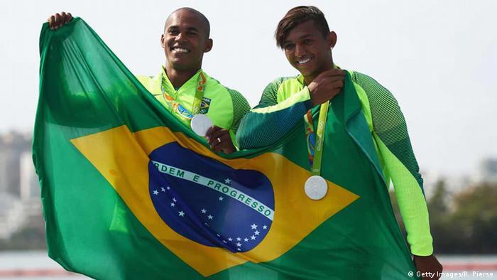Olympia Rio 16 20 08 Brasilianische Duo feiert Silver in Kanu-Zweier 1000 Meter