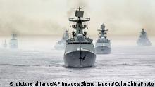 Russland Chinesiche Kriegsschiffe