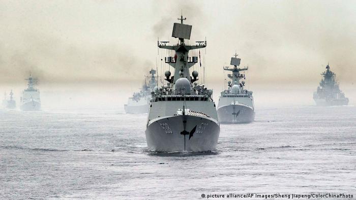 Російські та китайські військові кораблі, архівне фото