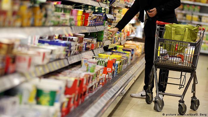 Deutschland Vorräte Einkaufswagen