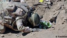 Irak Soldat Trauer um vom IS getötete Soldaten