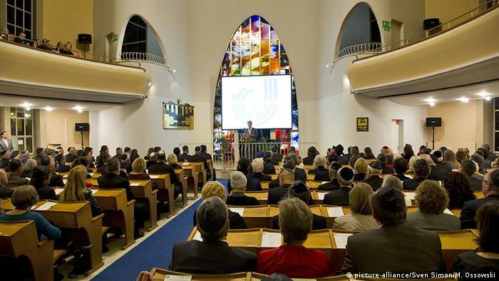 Düsseldorf Ansprache in der Synagoge