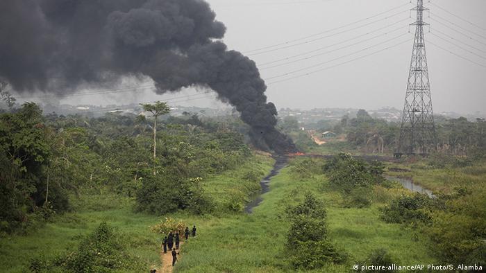 Nigeria Explosion Pipeline in Ogun