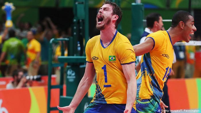 Brasilien Olympische Spiele Rio 2016 21 08 - Volleyball Brasilien vs Italien