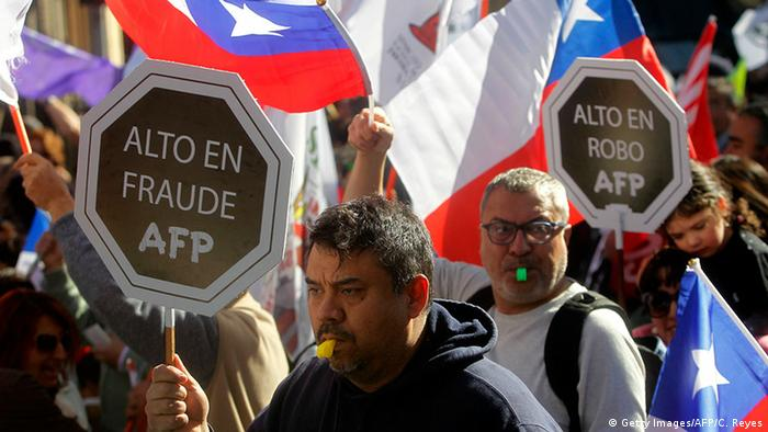 Para una gran parte de los chilenos las AFP son responsables de las malas pensiones.