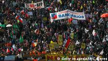 Chile Demonstrationen gegen das Rentensystem AFP